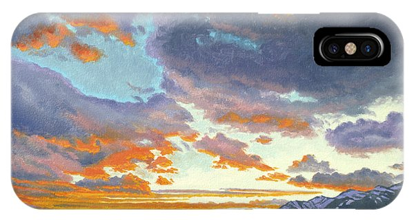 Teton iPhone Case - Tetons-looking South At Sunset by Paul Krapf