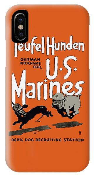 Military iPhone Case - Teufel Hunden - German Nickname For Us Marines by War Is Hell Store