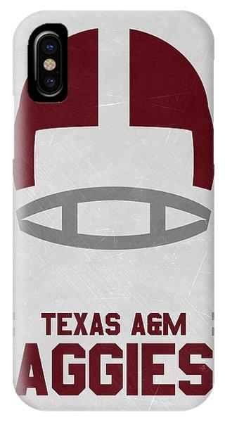 Aggie iPhone Case - Texas A M Aggies Vintage Football Art by Joe Hamilton