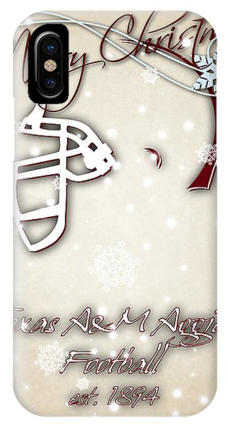 Aggie iPhone Case - Texas Am Aggies Christmas Card 2 by Joe Hamilton