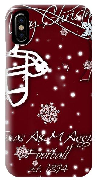 Aggie iPhone Case - Texas Am Aggies Christmas Card by Joe Hamilton