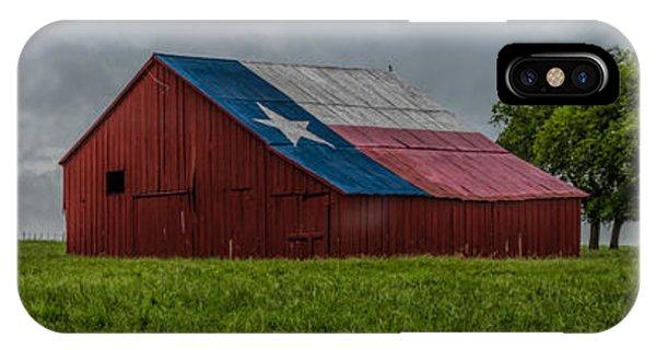 Texas Barn Panorama IPhone Case