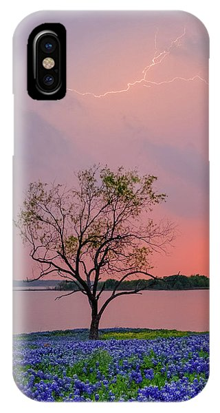 Texas Bluebonnets And Lightning IPhone Case