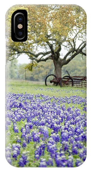 Texas Bluebonnets And Rust IPhone Case