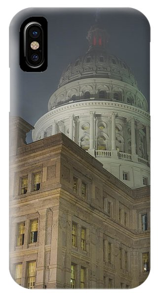 Texas Capitol In Fog IPhone Case