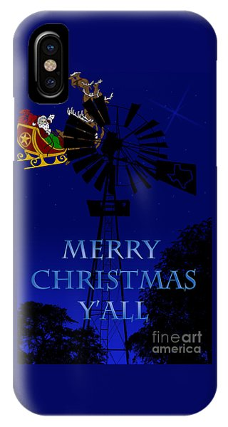Texas Christmas Card IPhone Case