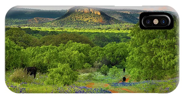 Texas Hill Country Ranch Road IPhone Case
