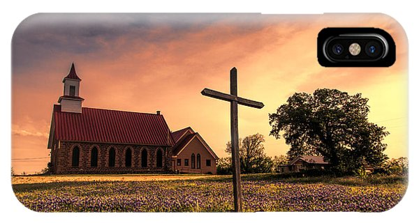 Old Rugged Cross iPhone Case - Texas Hill Country Sunset by Stephen Stookey