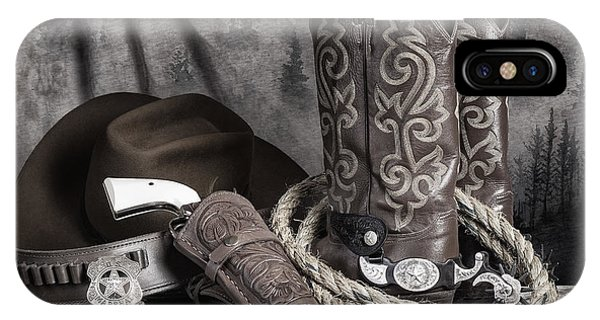 Equine iPhone Case - Texas Lawman by Tom Mc Nemar