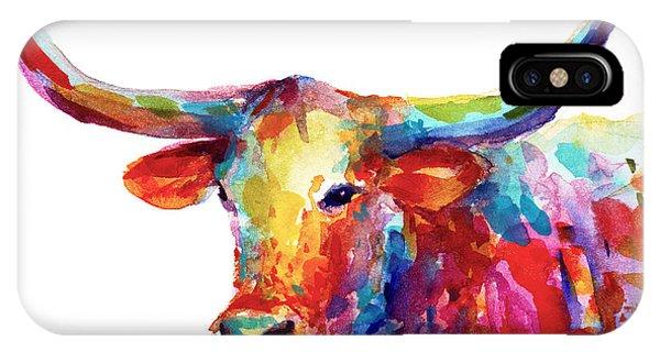 Ranch iPhone Case - Texas Longhorn Art by Svetlana Novikova