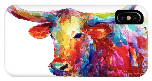 Bull Art iPhone Case - Texas Longhorn Art by Svetlana Novikova