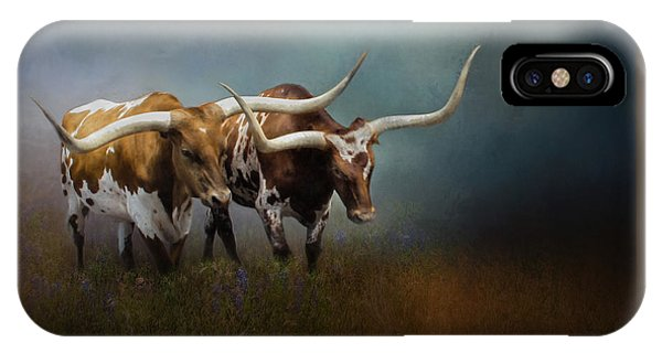 Texas Longhorn Pair IPhone Case