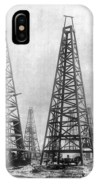 Texas: Oil Derricks, C1901 IPhone Case