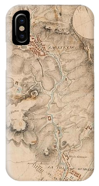 Texas Revolution Santa Anna 1835 Map For The Battle Of San Jacinto  IPhone Case