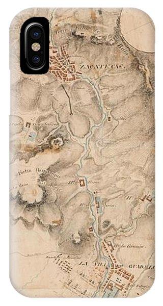 Texas Revolution Santa Anna 1835 Map For The Battle Of San Jacinto  IPhone Case