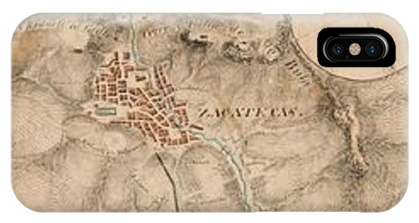 Texas Revolution Santa Anna 1835 Map For The Battle Of San Jacinto With Border IPhone Case
