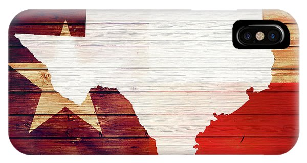 Traveler iPhone Case - Texas Rustic Map On Wood by Dan Sproul