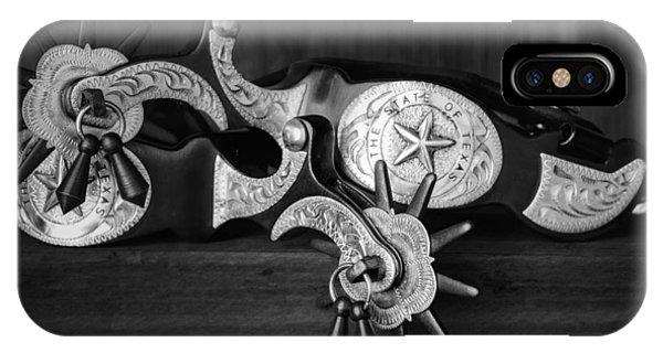 Old Barn iPhone Case - Texas Spurs by Tom Mc Nemar