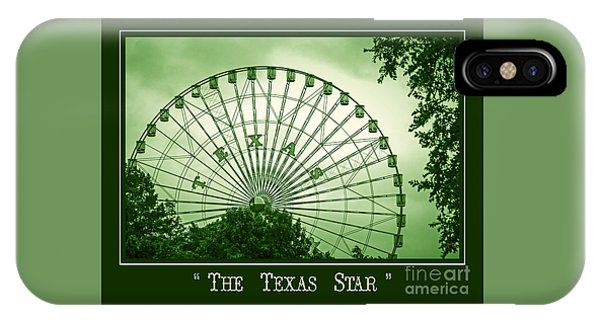 Texas Star In Green IPhone Case