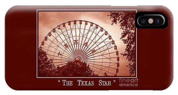 Texas Star In Orange IPhone Case