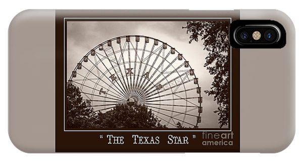 Texas Star In Sepia IPhone Case