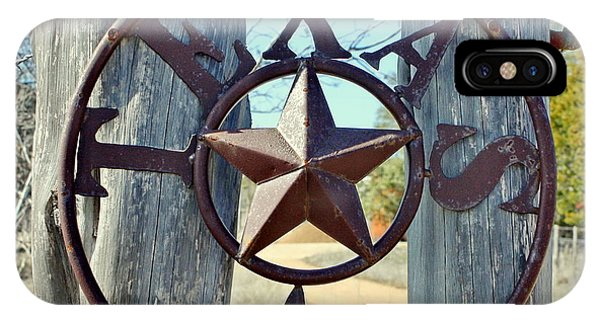 Texas Star Rustic Iron Sign IPhone Case