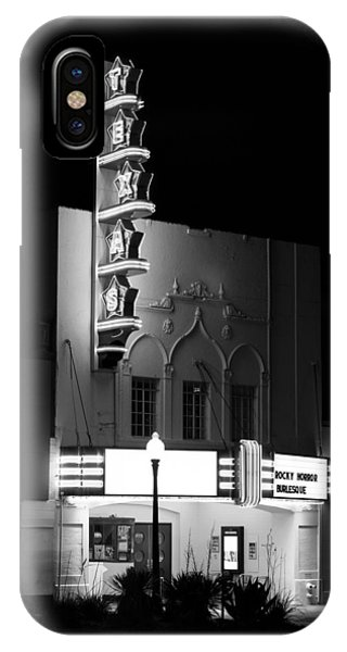 Texas Theater Oak Cliff Bw IPhone Case