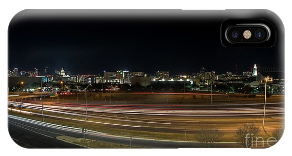 Texas University Tower And Downtown Austin Skyline From Ih35 IPhone Case