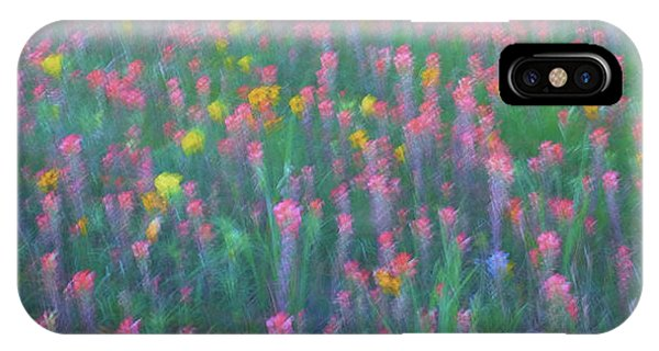 Texas Wildflowers Abstract IPhone Case