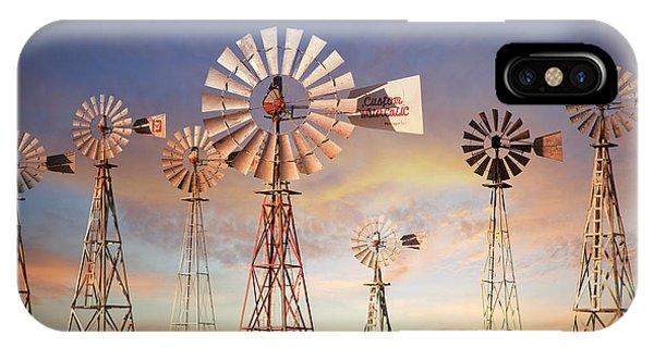 Texas Windmills IPhone Case