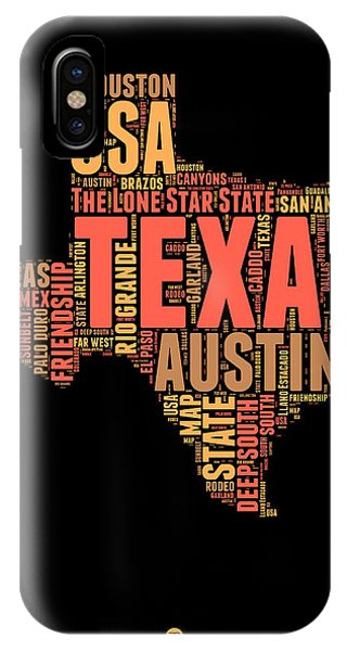 Texas Word Cloud 1 IPhone Case