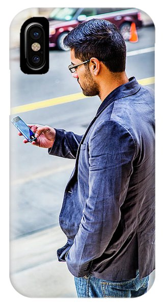 Man Texting IPhone Case