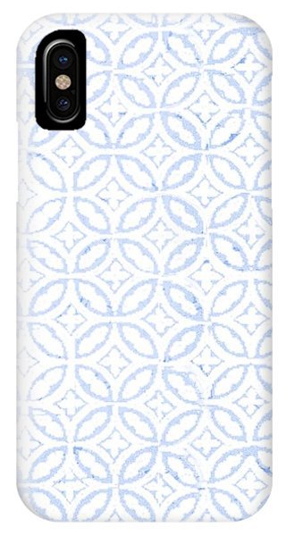 Textured Blue Diamond And Oval Pattern IPhone Case