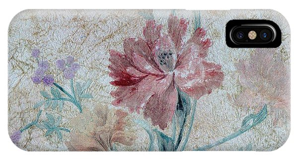 Textured Florals No.1 IPhone Case
