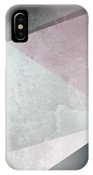 Geometric iPhone Case - Textured Geometric Triangles by Pati Photography