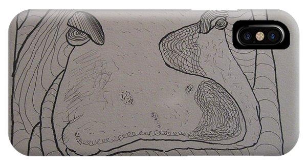 Textured Hippo IPhone Case