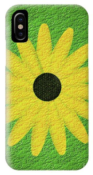 Textured Yellow Daisy IPhone Case