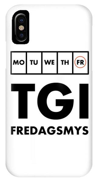 Tgi Fredagsmys IPhone Case