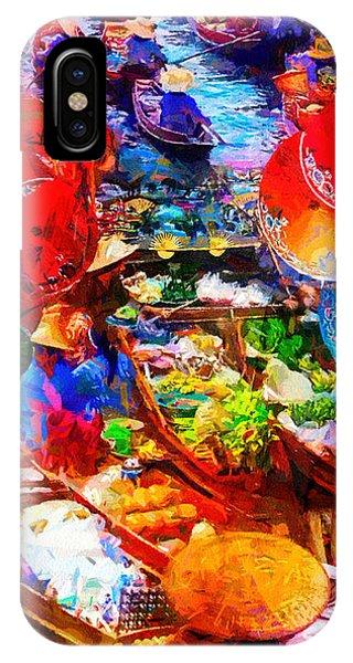 Thai Floating Market IPhone Case