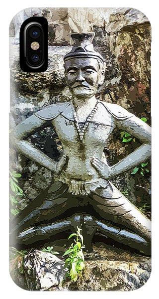 Thai Yoga Statue At Wat Pho IPhone Case
