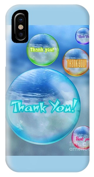 Thank You Bubbles IPhone Case