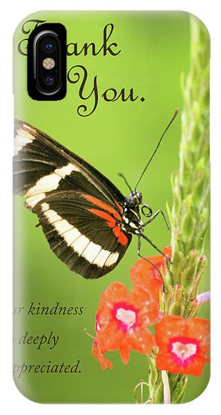 Thank You - Butterfly IPhone Case