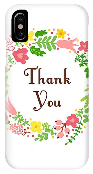 Positive iPhone Case - Thank You Card by Madame Memento