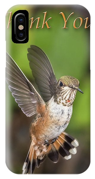Thank You - Female Rufous Hummingbird  IPhone Case