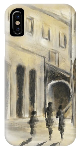 IPhone Case featuring the mixed media That Old House by Eduardo Tavares