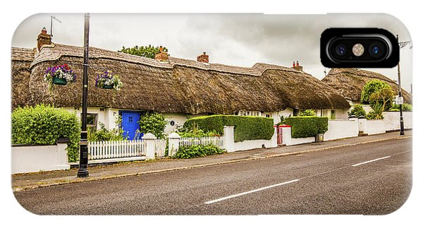 Dunmore East iPhone Case - Thatched Cottages by Ed James