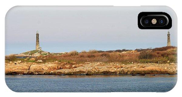 Thatcher Island Twin Lights Gloucester Massachusetts IPhone Case