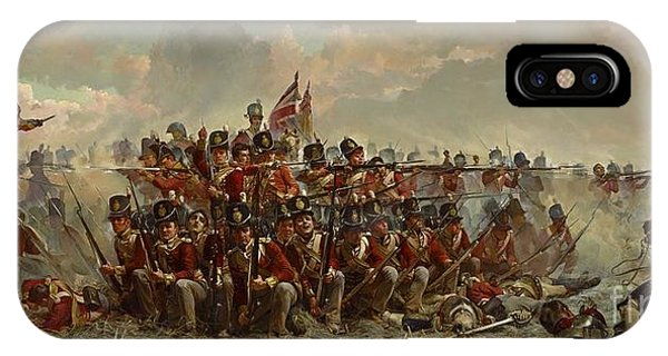 The 28th Regiment At Quatre Bras IPhone Case