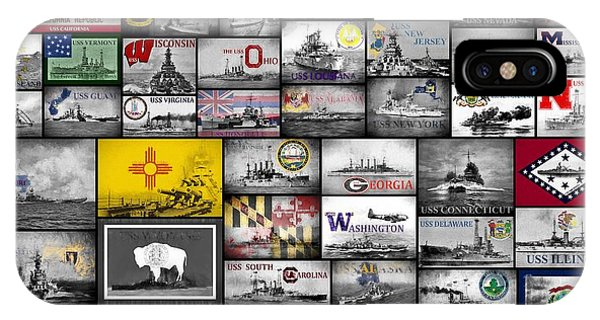 The 50 States And Their Battleships IPhone Case