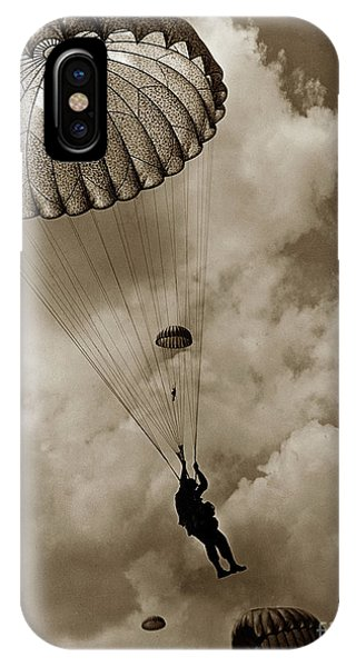 The 82nd Airborne  Hits The Silk Fort Ord 1953 IPhone Case